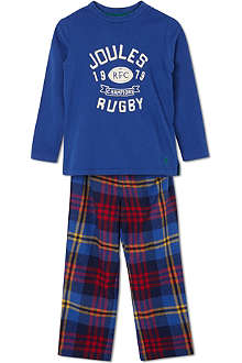 JOULES Two piece rugby pyjama set 2-12 years