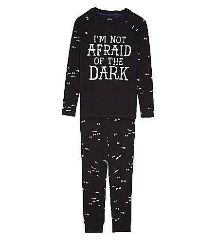 JOULES Snooze pyjama set 4-12 years (Dark+grey+eyes