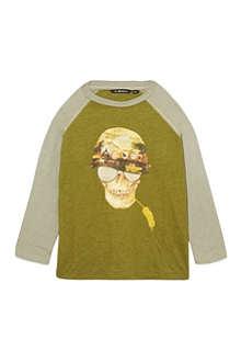 LA MINIATURA Skull soldier raglan t-shirt 2-14 years