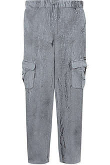LA MINIATURA Crackle finish cargo trousers 2-14 years