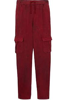 LA MINIATURA Crackle finish cargo trousers 2-14 years