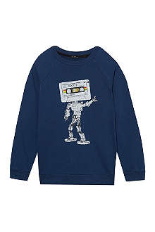 LA MINIATURA Retro cassette crew neck jumper 2-14 years