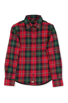 LA MINIATURA Plaid jersey-back shirt 2-14 years