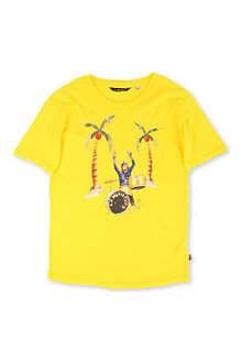 LA MINIATURA Monkey playing drums t-shirt