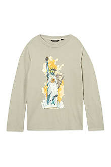 LA MINIATURA Statue of Liberty long-sleeved t-shirt 2-14 years