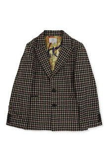 LA MINIATURA Gingham notch blazer 2-14 years