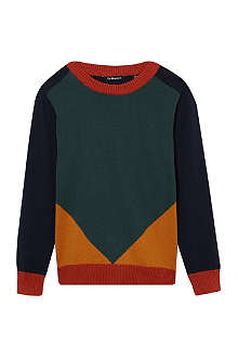 LA MINIATURA Colour block knitted jumper 2-14 years