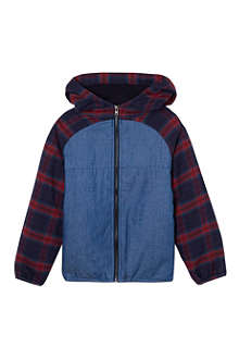 LA MINIATURA Padded plaid jacket 2-14 years