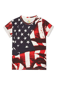 ELEVEN PARIS Stars & Stripes Obama t-shirt 4-14 years