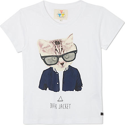 ELEVEN PARIS Little Cat t-shirt 4-14 years (White