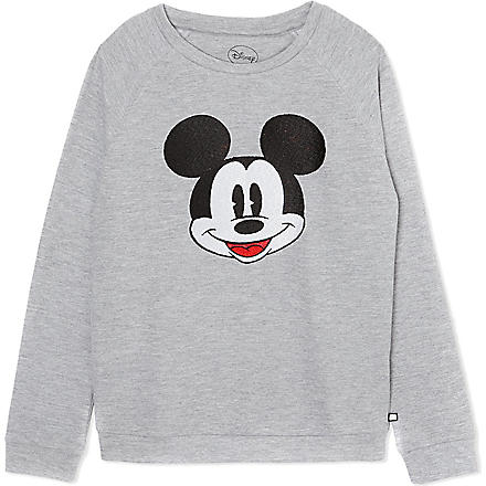ELEVEN PARIS Fiona Mickey Mouse jumper 4-14 years (Grey