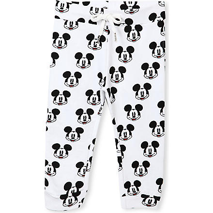 ELEVEN PARIS Mickey Mouse jogging bottoms 4-14 years (White