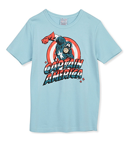 LOGOSHIRT Captain America t-shirt 18 months-12 years (Blue