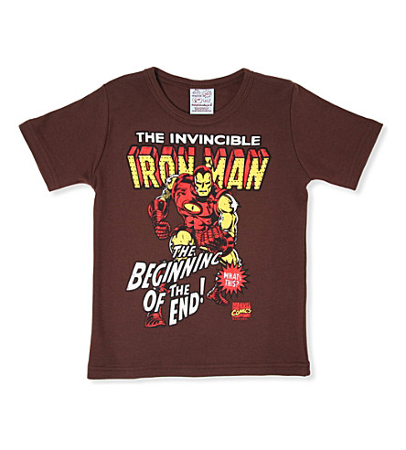 LOGOSHIRT Ironman t-shirt 18 months - 12 years (Brown