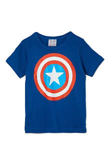 LOGOSHIRT Captain America shield t-shirt 18 months-12 years