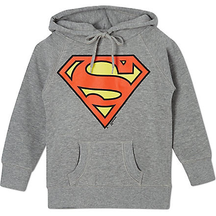 LOGOSHIRT Superman logo hoodie 18 months-12 years (Grey