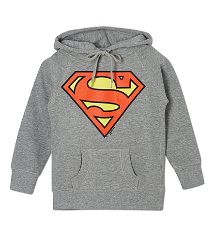 LOGOSHIRT Superman logo hoody 18 months-12 years (Grey