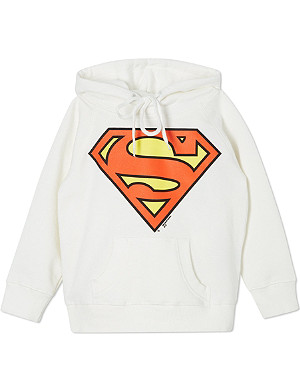 LOGOSHIRT Superman logo hoodie 18 months-12 years