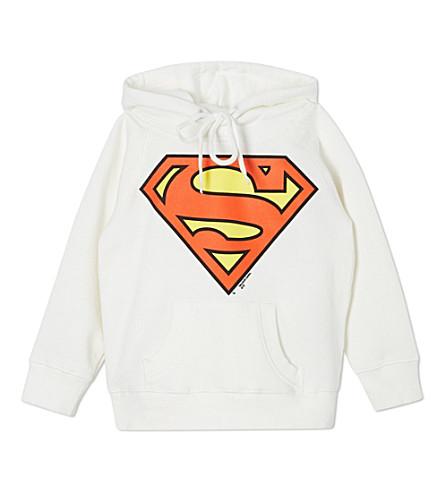 LOGOSHIRT Superman logo hoodie 18 months-12 years (White