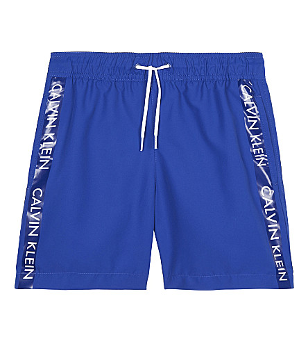 CALVIN KLEIN Logo tape swim shorts 4-16 years (Blue
