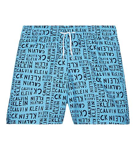 CALVIN KLEIN Logo swim shorts 4-16 years (Blue