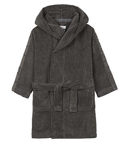 CALVIN KLEIN Cotton towelling bathrobe S-XL (Grey