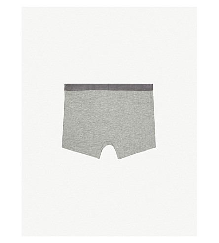 CALVIN KLEIN Cotton set of two boxers 4-16 years (33+grey/white