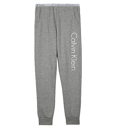 CALVIN KLEIN Logo print jogging bottoms 4-16 years (Grey