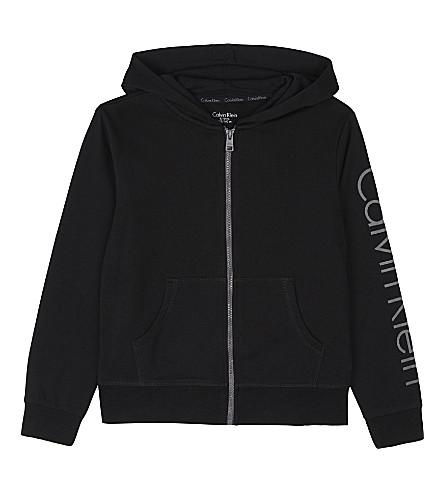 CALVIN KLEIN Logo cotton hoody 4-16 years (Black