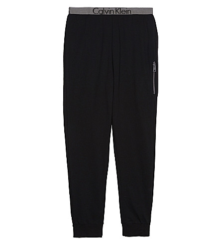CALVIN KLEIN Logo cotton-blend jogging bottoms 4-16 years (Black