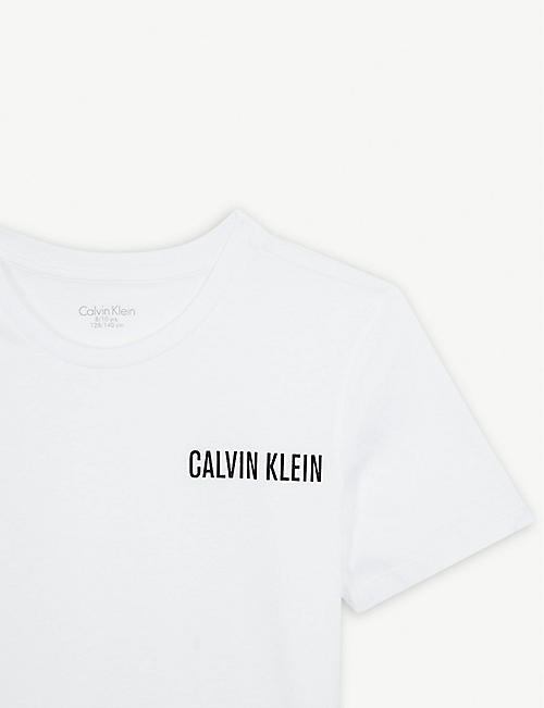 CALVIN KLEIN Logo cotton pyjamas 8-16 years