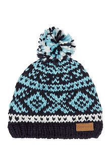 BARTS BV Log cabin fairisle beanie 8-12 years