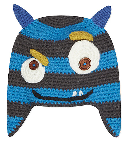 BARTS BV Monster knitted beanie 4-8 years (Blue