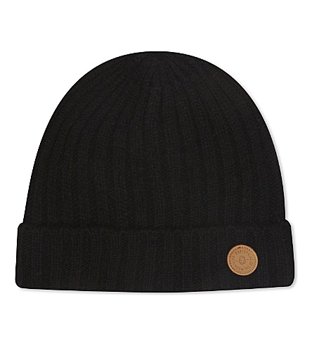 BARTS BV Haakon turnup lambswool beanie 4-8 years (Black
