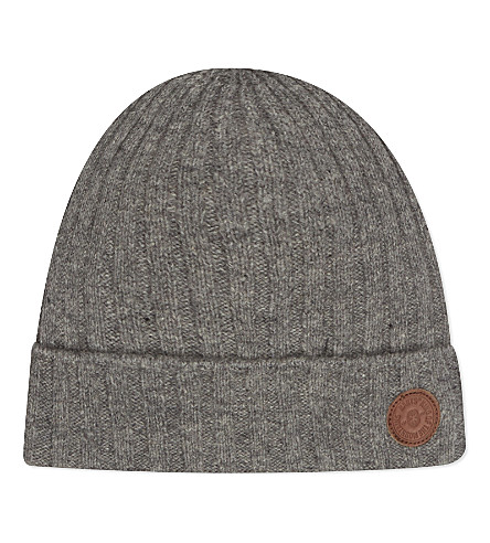 BARTS BV Haakon turnup lambswool beanie 4-8 years (Heather+grey