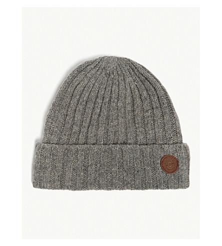 BARTS BV Haakon knitted wool beanie (Heather+grey