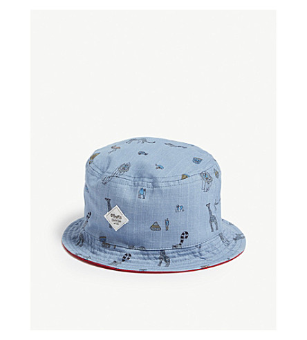 BARTS BV Reversible cotton bucket hat (Denim