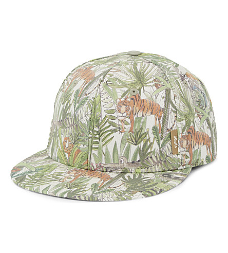 BARTS BV Jungle print cotton cap (Green