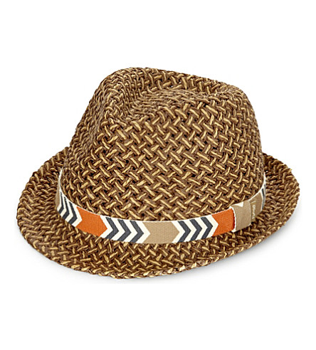 BARTS BV Wahoo straw fedora 4+ years (Brown
