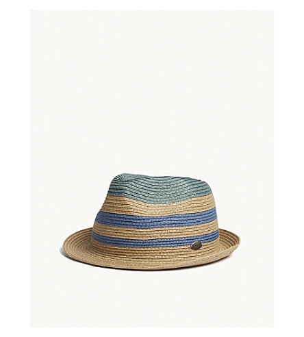 BARTS BV Vilage striped straw hat (Blue