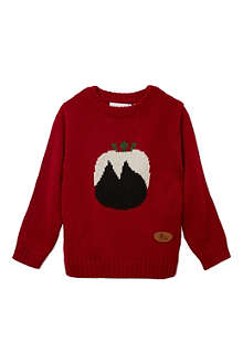 CRAZY GRANNY Knitted Pudding jumper 3-10 years