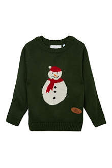 CRAZY GRANNY Knitted Fred Frost jumper 3-10 years