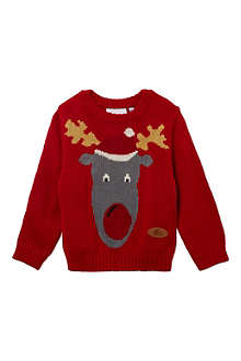 CRAZY GRANNY Knitted Reindeer jumper 3-10 years