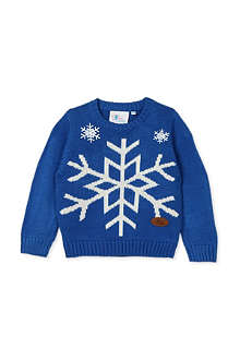 CRAZY GRANNY Snowflake knitted jumper 3-10 years