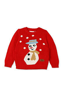 CRAZY GRANNY Snowman knitted jumper 3-10 years