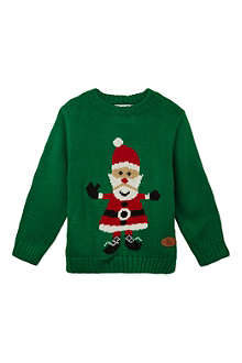 CRAZY GRANNY Knitted Santa jumper 3-10 years