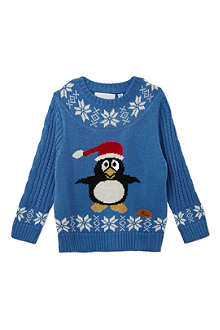 CRAZY GRANNY Knitted Penguin jumper 3-10 years