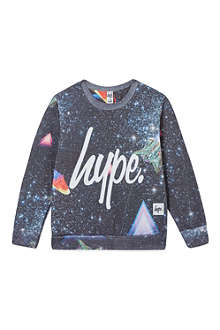 HYPE Space script logo sweater 7-8 years