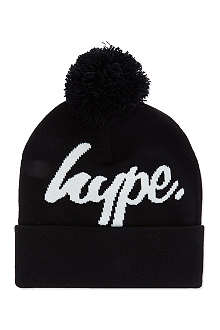 HYPE Logo intarsia beanie hat