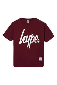 HYPE Script logo crew t-shirt 7-8 years